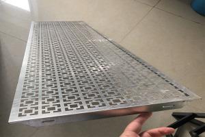 中式花格冲孔吊顶铝扣板