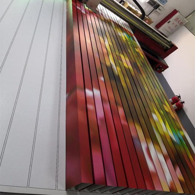 激光喷绘彩涂多色铝方管