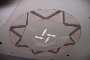 大堂造型吊顶铝板、灯槽铝板