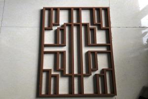 中式风格咖啡色焊接铝花格