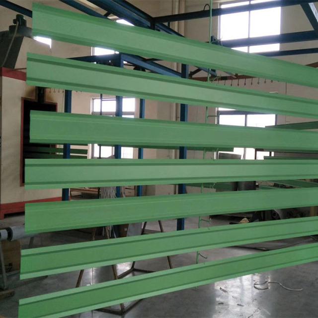 绿色静电喷粉烤漆S形铝挂片