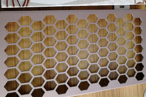 六角形冲孔铝单板网
