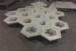 凹面六角形造型铝单板