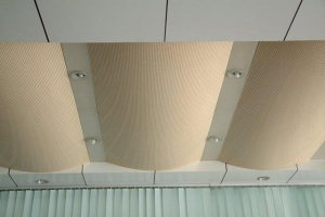 弧形冲孔铝板吊顶