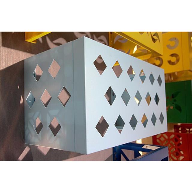 正方形冲孔花式率空调罩