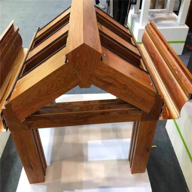 木纹色铝合金组合铝樑