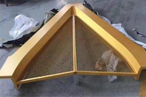 金色造型铝合金网板