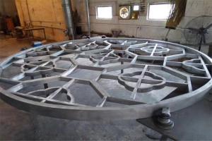 中式圆形铝合金窗花