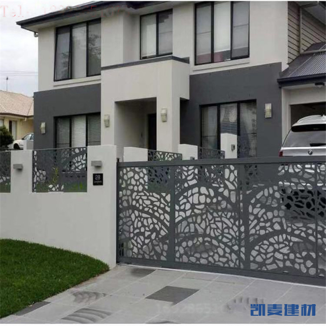外墙树叶造型镂空铝单板窗花
