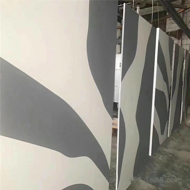 白灰双色氟碳烤漆铝单板