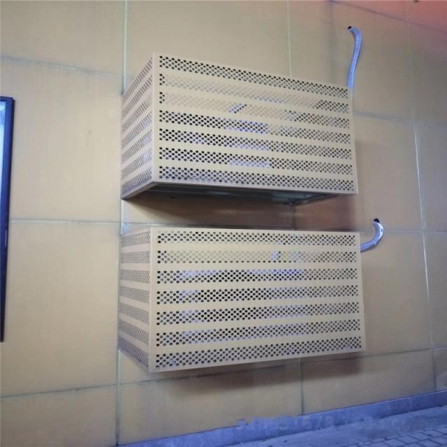 冲圆孔外墙铝合金空调罩