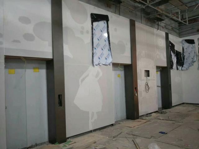 电梯间墙面冲孔拼女孩子图案铝单板