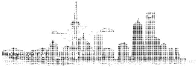 冲孔拼上海浦东新区风景图案铝单板