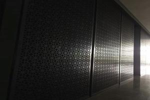 八边形厚铝板雕刻铝合金屏风