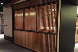 仿古中式木纹铝窗花隔断