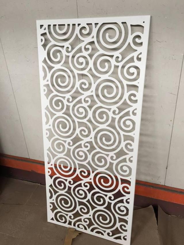 祥云图案雕刻镂空铝单板