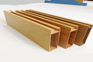 木纹色U槽型材铝方通