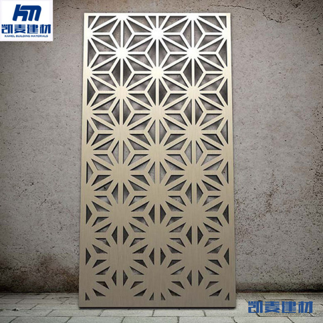 激光雕三角形孔镂空铝单板