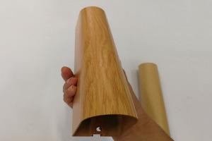 木纹色铝合金半圆管吊顶