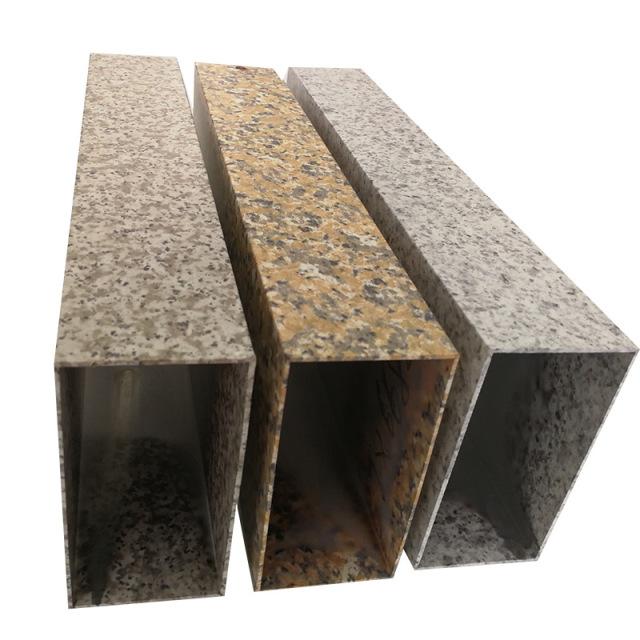 100*50*1.2mm石纹转印铝方管