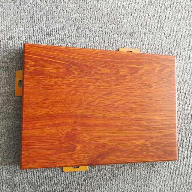 鸡翅木木纹色热转印铝单板