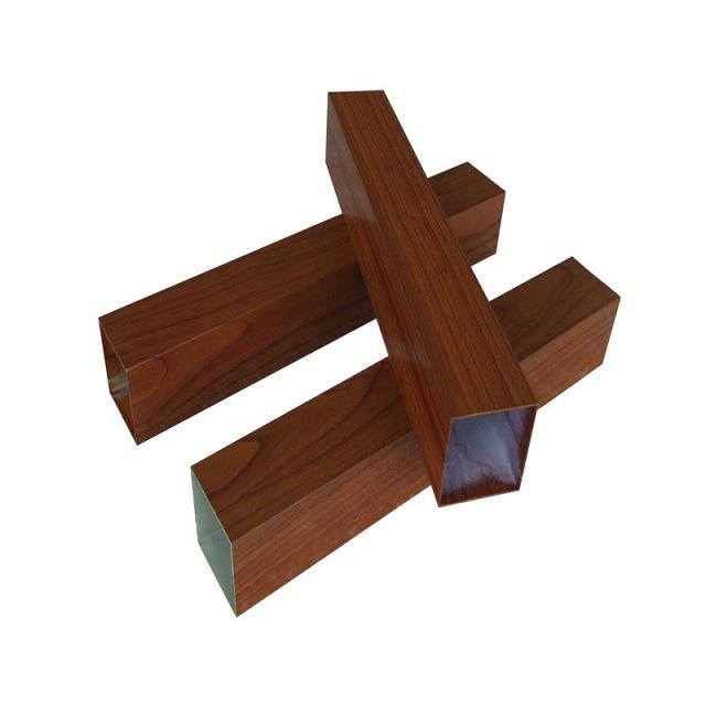 50*50木纹色铝合金方管