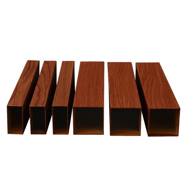 100mm高的各种宽度木纹铝方管