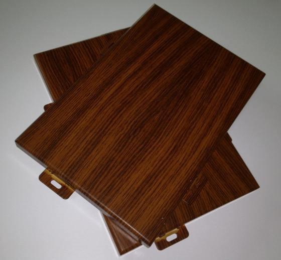 黑胡桃色3D手感木纹铝单板