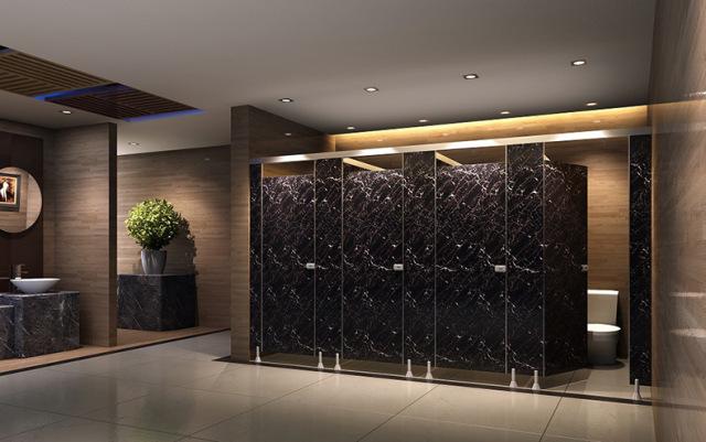 卫生间木纹铝单板墙面