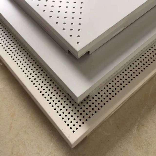 平面和冲孔斜角铝扣板