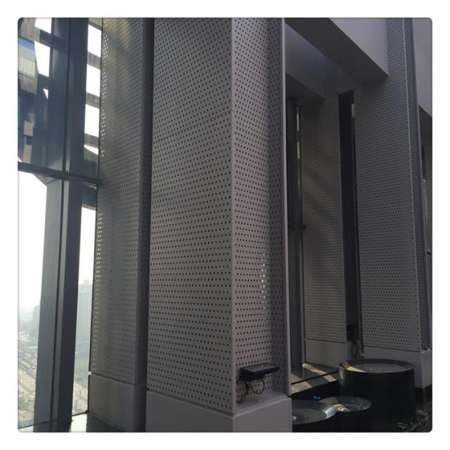 灰色冲孔外墙铝单板