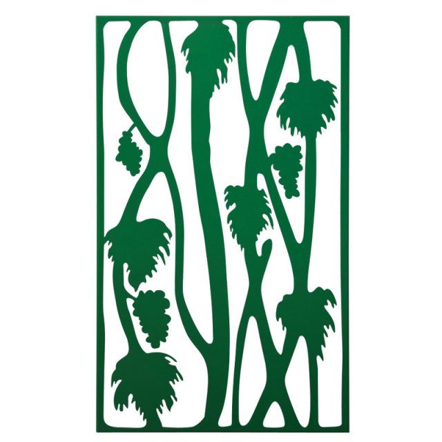 绿叶图案雕刻铝合金窗花