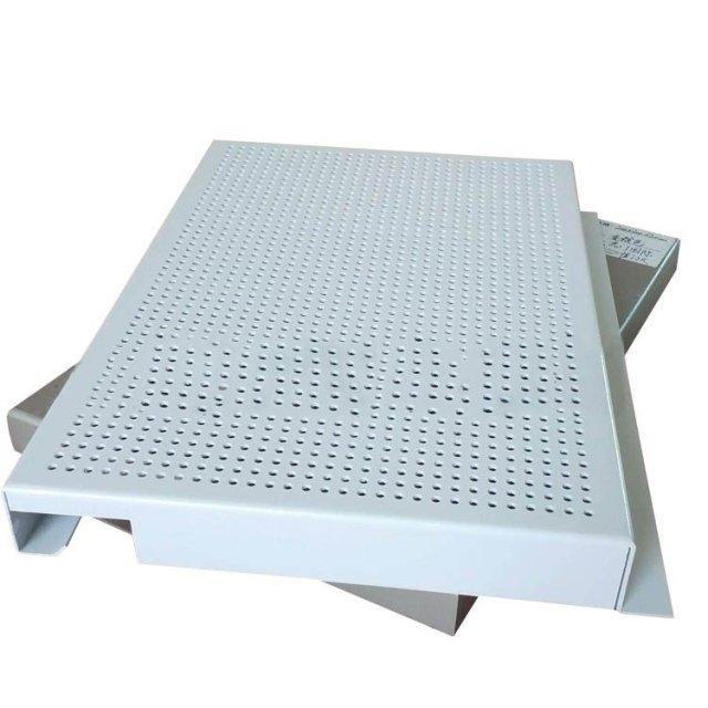白色冲孔勾搭铝单板