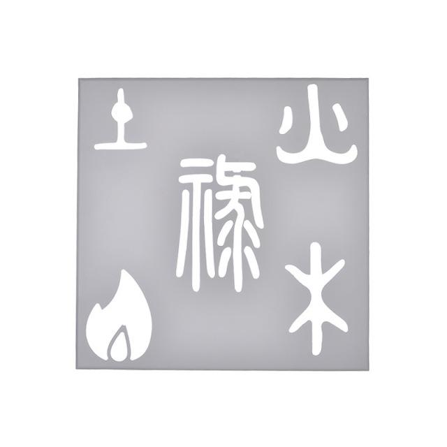 象形文字图案雕刻铝单板背贴亚克力