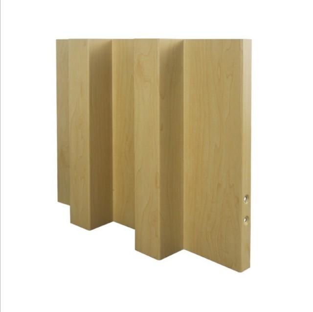 密拼形凹凸面长城木纹铝单板立面视觉
