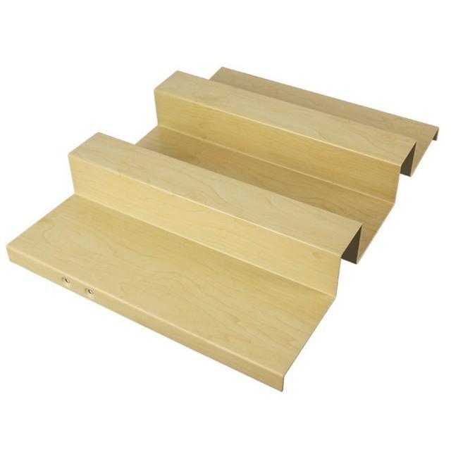 密拼形凹凸面长城木纹铝单板