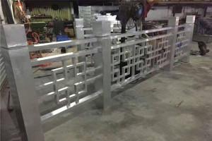 铝方管焊接铝花格扶手