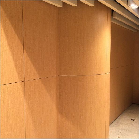 弧形木纹色密拼铝单板