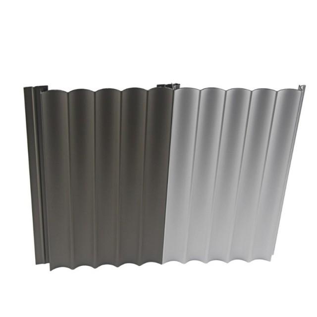 波浪造型勾搭铝型材墙面板