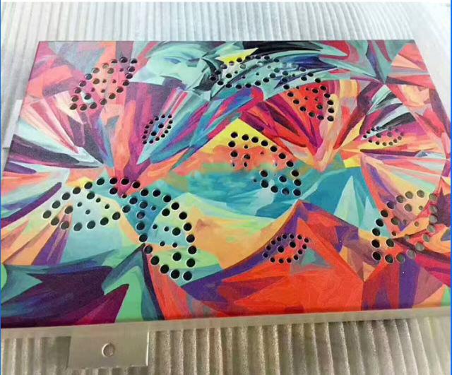 激光喷绘艺术图案冲孔铝单板
