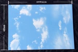 蓝天白云铝扣板尺寸示意