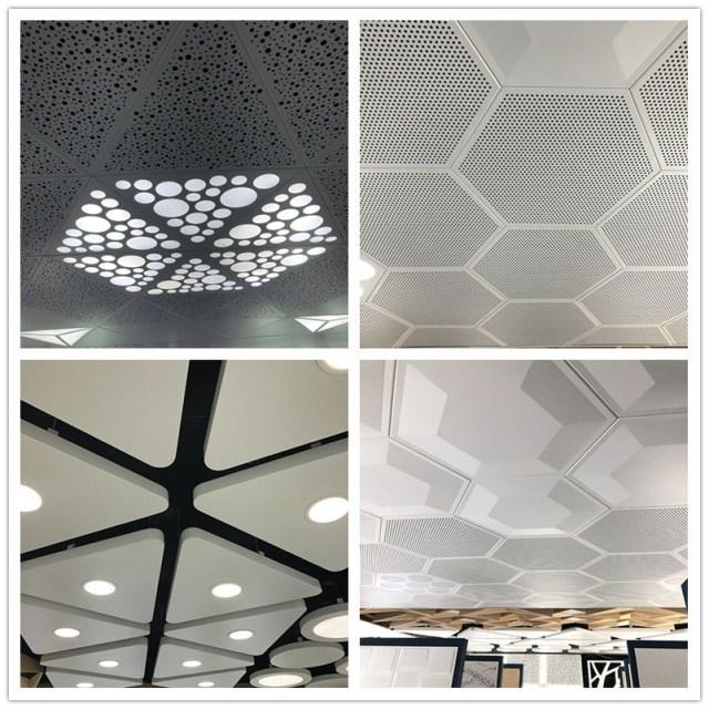 三角形、六角形冲孔凹凸造型铝单板吊顶