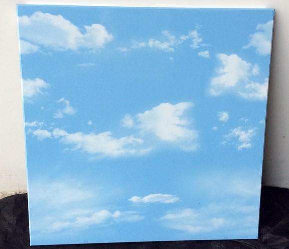 蓝天白云印花铝扣板