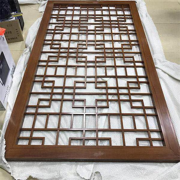 中式木纹铝合金屏风