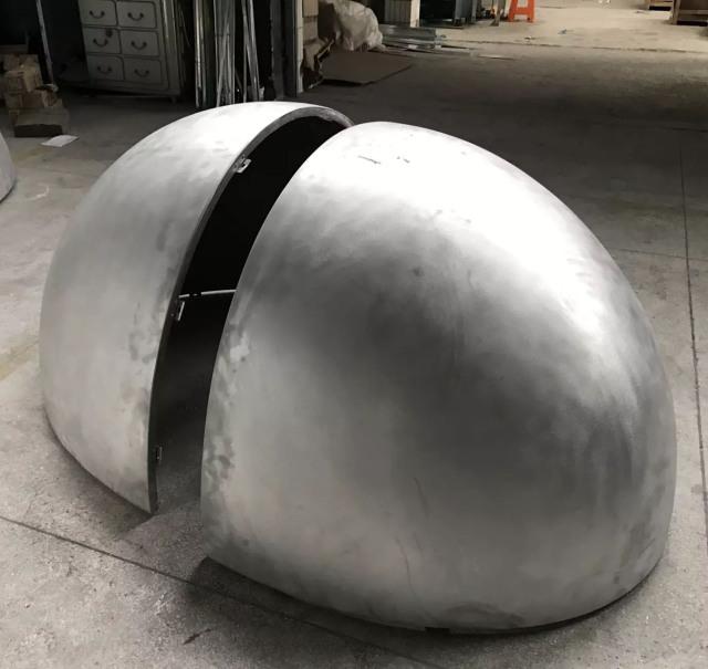 蛋形双曲铝单板组合