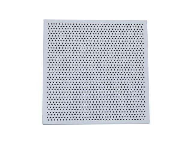 白色冲孔吸音铝蜂窝板