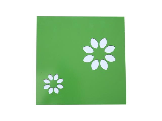 绿色底白色印花图案搪瓷钢板