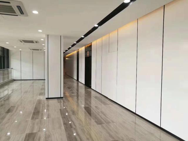 白色烤瓷铝单板包柱暗藏灯槽