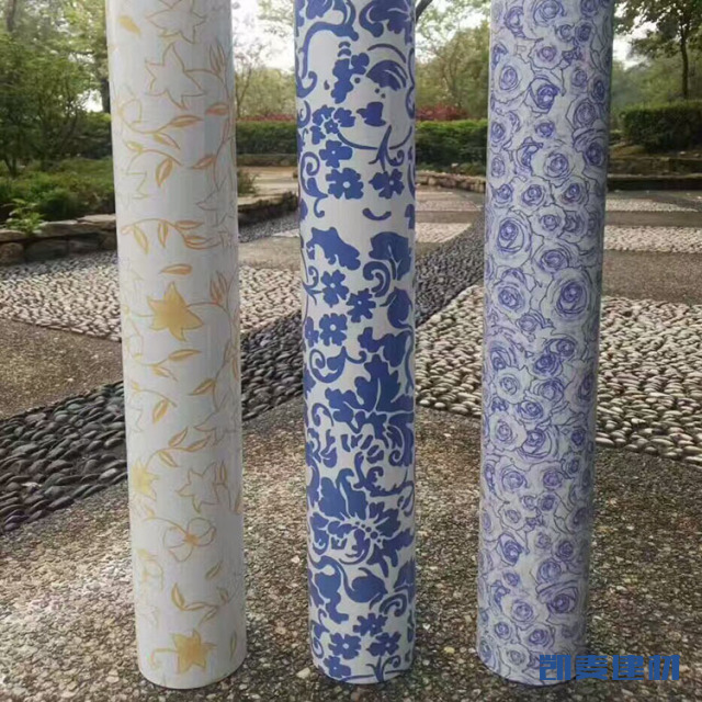 青花瓷图案转印铝圆管