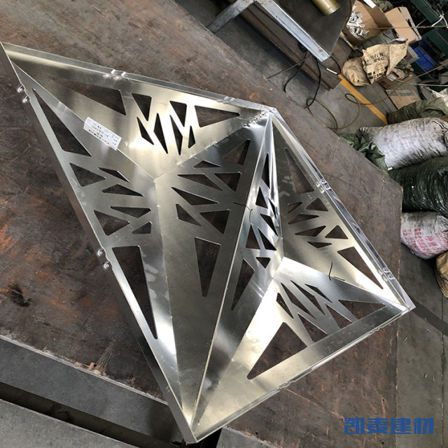 镂空三角锥形铝单板
